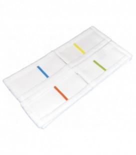 Frange Ricambio in Microfibra Bianco con Doppia Tasca