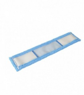 Ricambio frangia in microfibra blu - doppia tasca