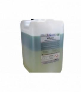 Bifase detergente alcalino bicomponente
